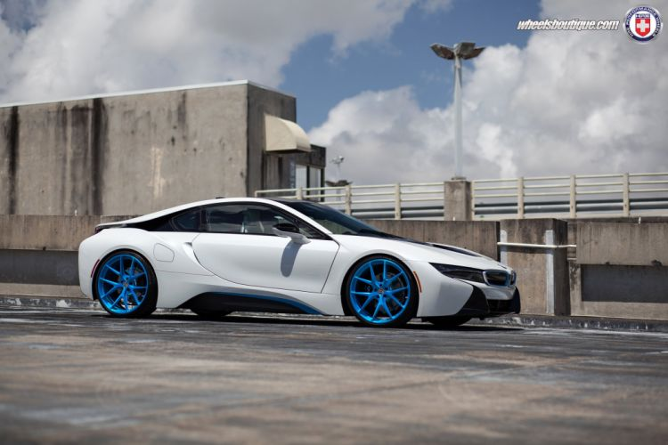 BMW-i8 electric coupe cars tuning HRE wheels wallpaper