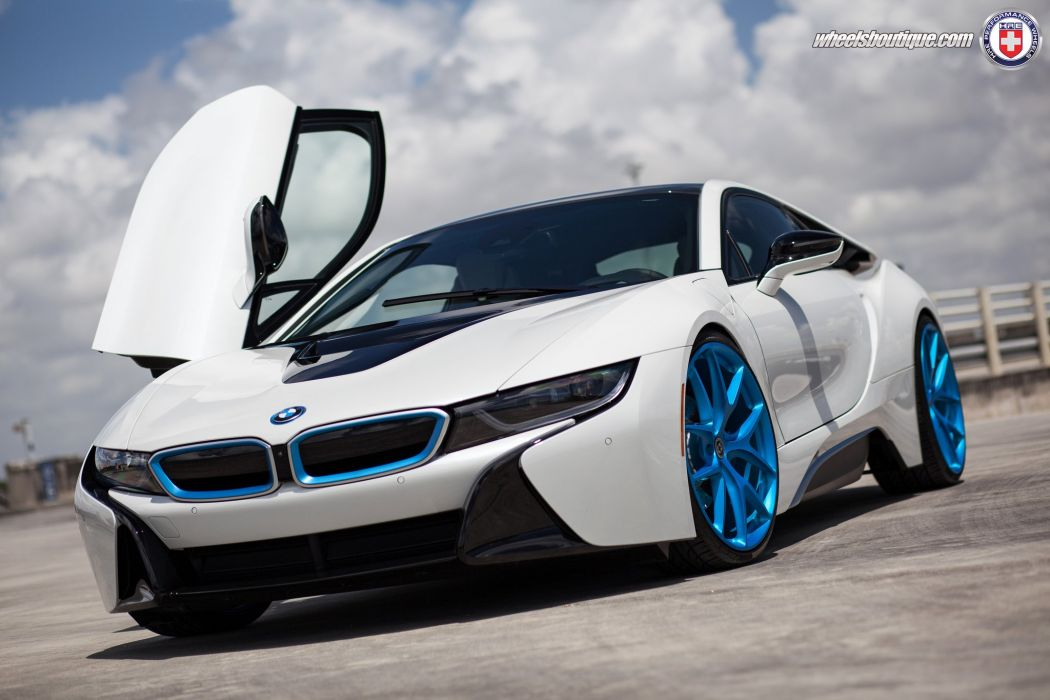 Bmw I8 Electric Coupe Cars Tuning Hre Wheels Wallpaper