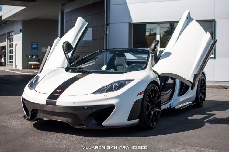 McLaren 650 spider cars white wallpaper