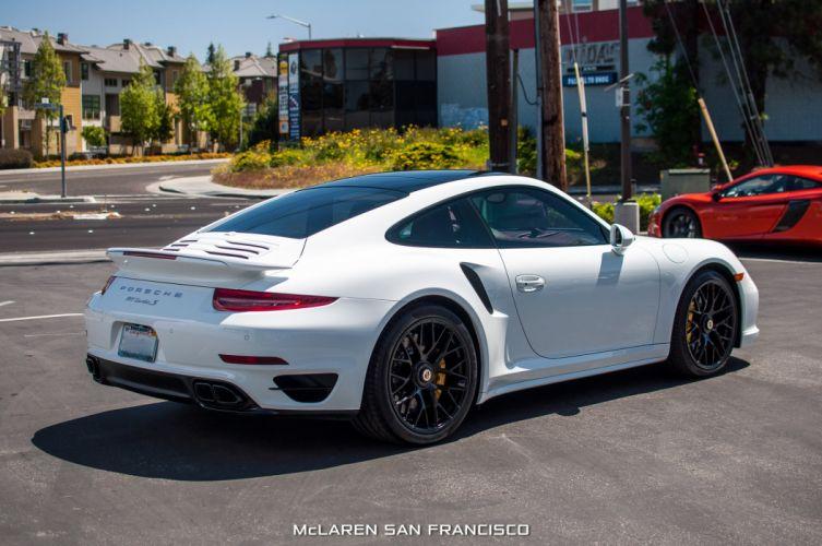 2015 Porsche 911 Turbo-S coupe cars white wallpaper