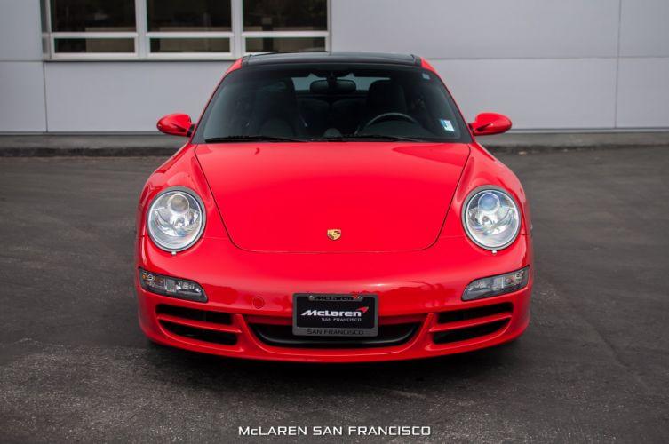 2007 Porsche 911 Targa 4S coupe cars red wallpaper