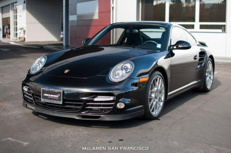 2012 Porsche 911 Turbo-S coupe cars black wallpaper