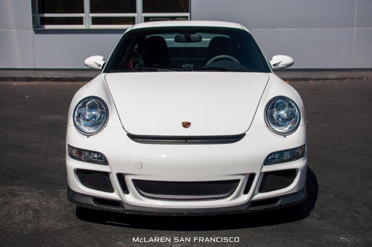 2007 Porsche 911 GT3 coupe cars white wallpaper