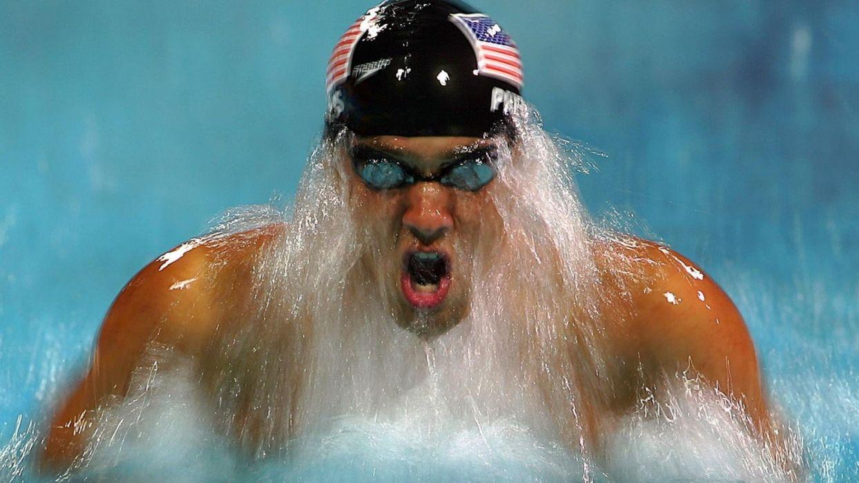 michael phelps nadador americano wallpaper