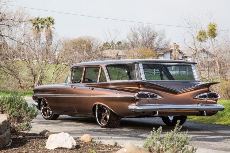 1959 Chevrolet Chevy Parklane Station Wagon Cruiser Hotrod Streetrod Hot Rod Street Lowered Low Super USA 2048x1360-03 wallpaper