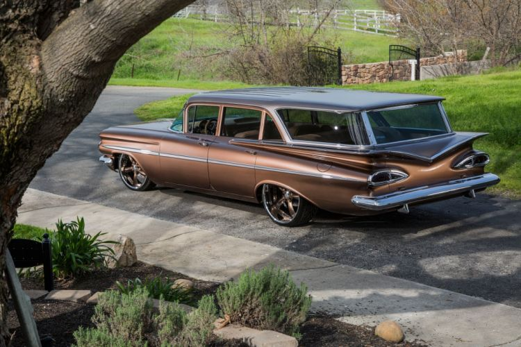 1959 Chevrolet Chevy Parklane Station Wagon Cruiser Hotrod Streetrod Hot Rod Street Lowered Low Super USA 2048x1360-04 wallpaper