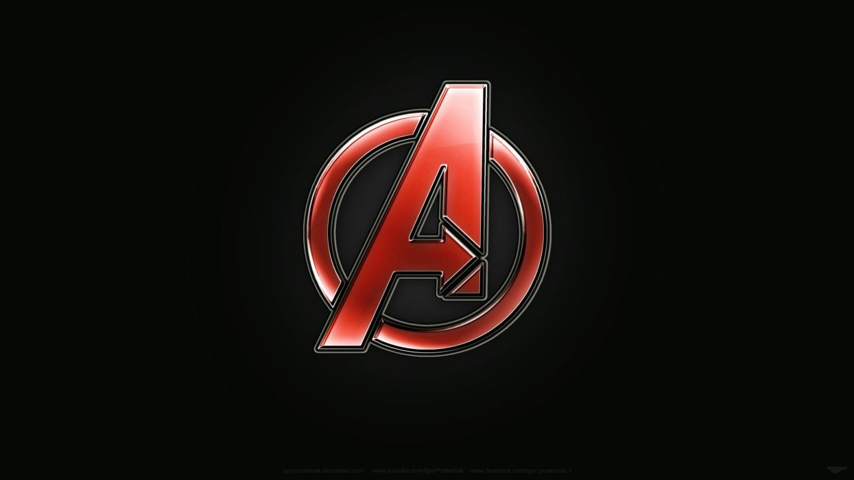 Avengers Logo Designdigital Painting Photoshop Wallpaper