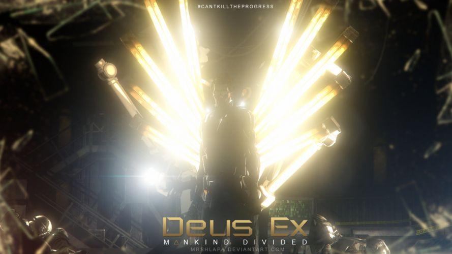 DEUS EX MANKIND DIVIDED cyberpunk action rpg fighting fps shooter tactical stealth 1demd warrior wallpaper