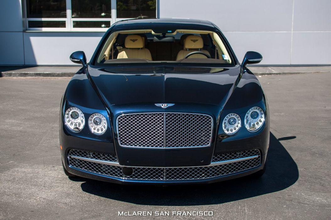 2014 Bentley Flying Spur blue cars luxury wallpaper
