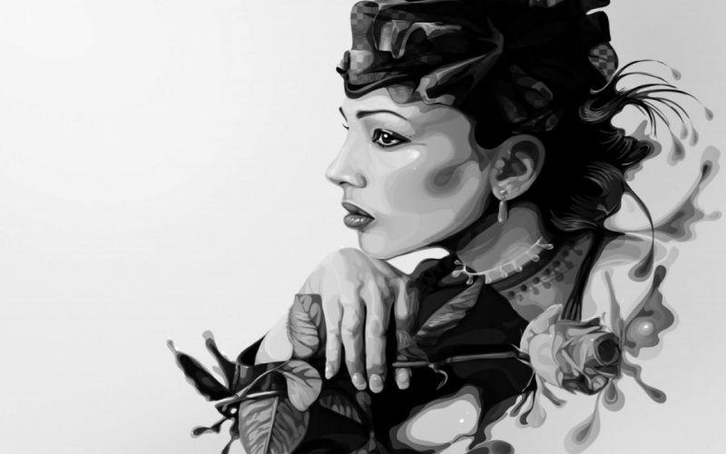 artistic art artwork women woman girl girls female wallpaper