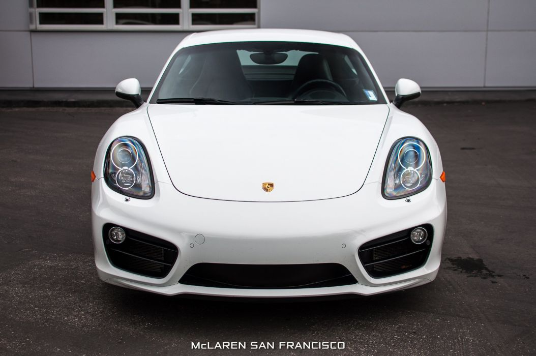 2014 Porsche Cayman-S coupe cars white wallpaper