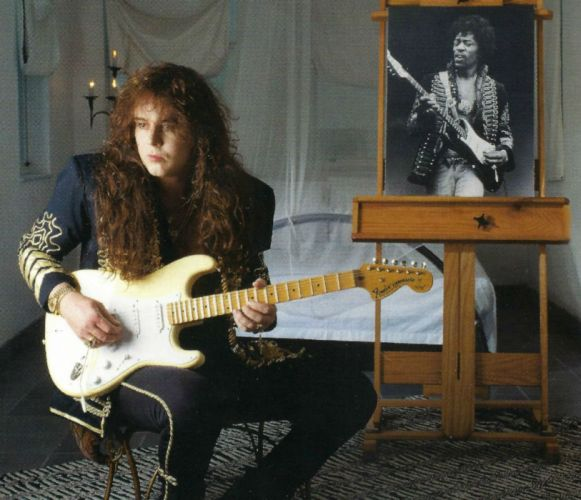 YNGWIE MALMSTEEN heavy metal guitar hair wallpaper