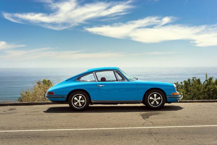Porsche 911-L 2 0l Coupe 901 1967 classic cars blue wallpaper