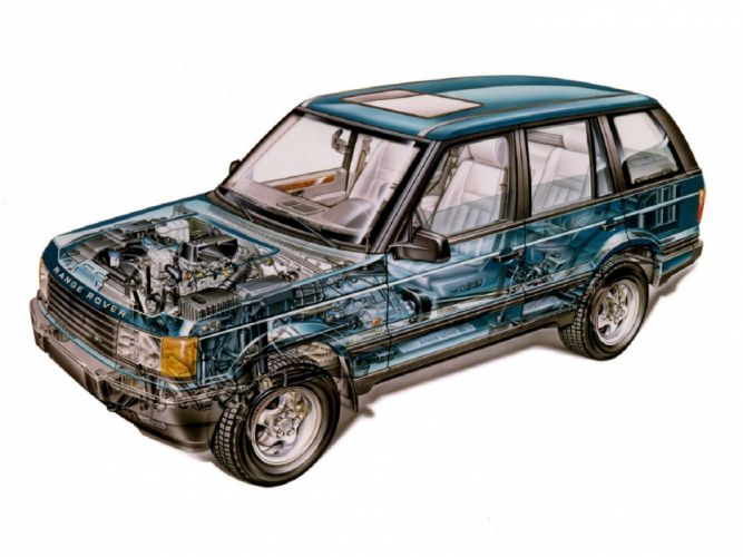Range rover all road 1994 cars technical cutaway wallpaper
