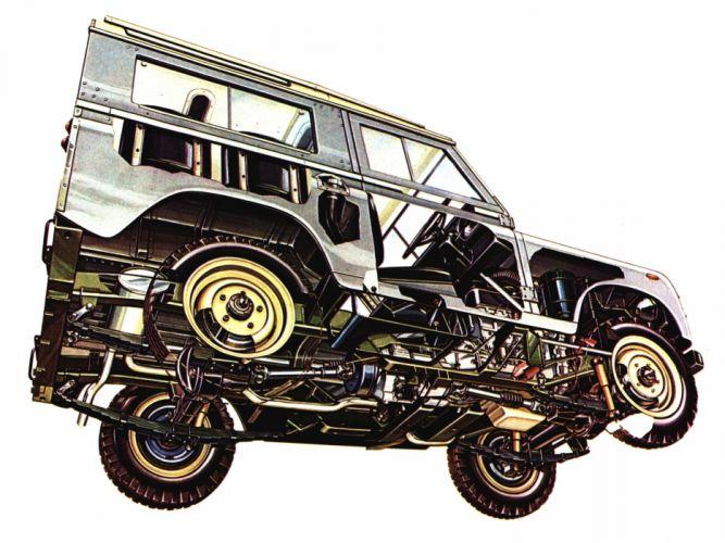 Land Rover Series III 1971 cars all road technical cutaway wallpaper