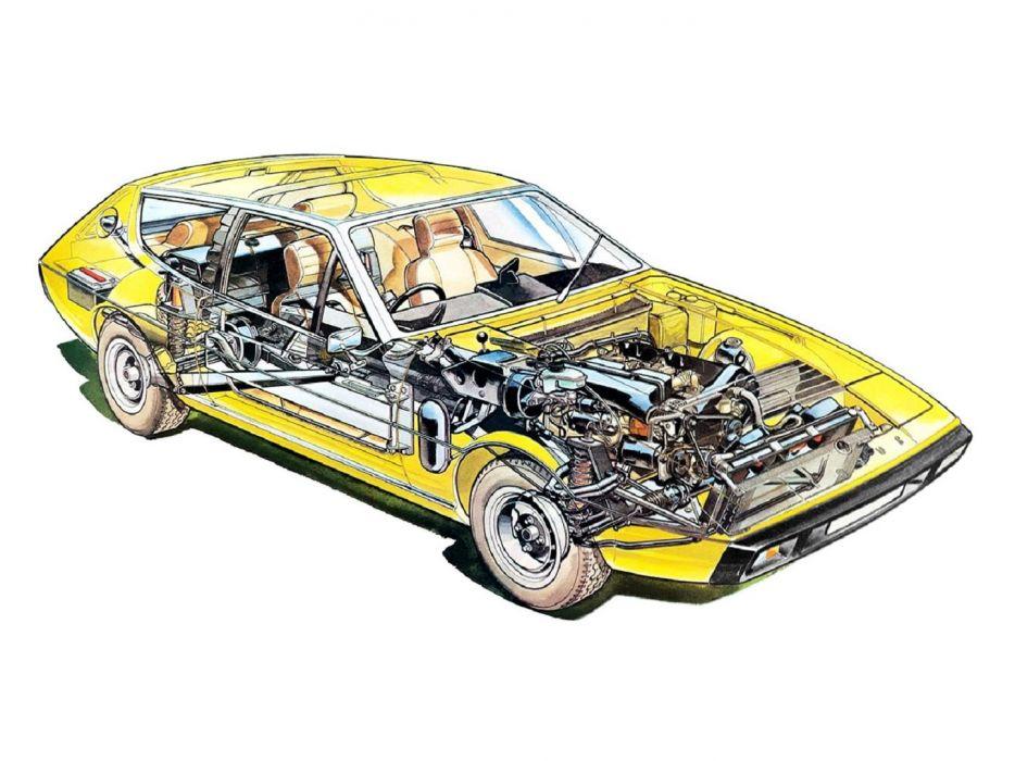Lotus Elite Type-75 1974 cars technical cutaway wallpaper