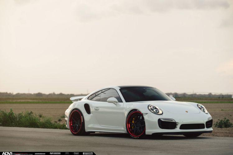 ADV 1 WHEELS PORSCHE 911 TURBO-S coupe cars tuning white wallpaper