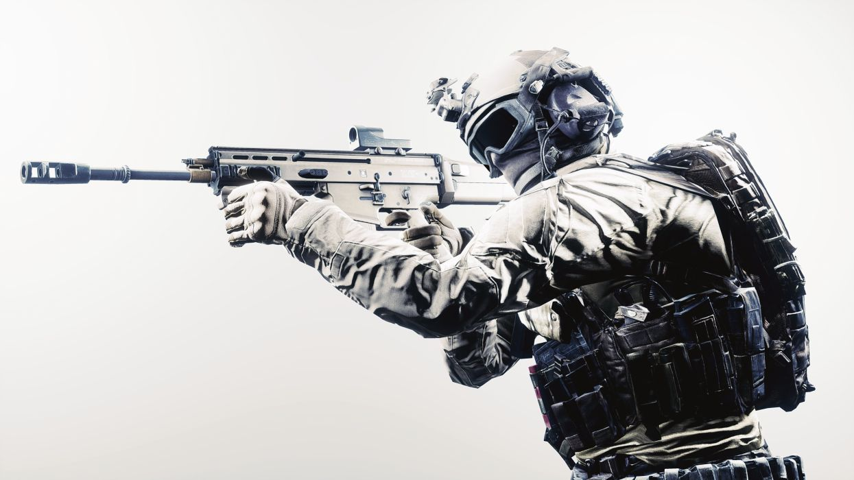 Battlefield 4 Scar-H with VPR and flash Hider wallpaper