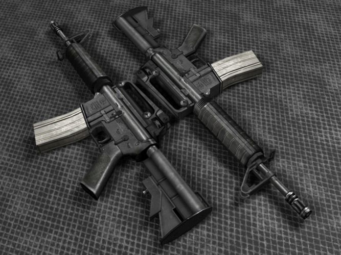 Assault Rifle police military weapon gun wallpaper