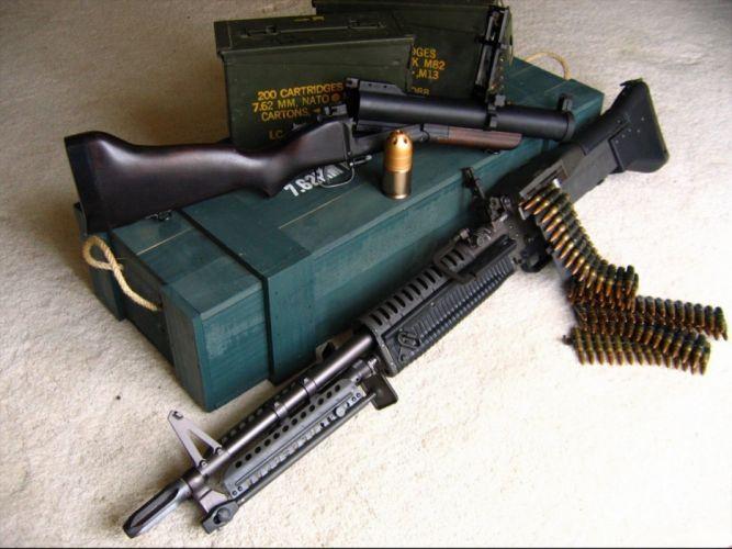 Assault Rifle police military weapon gun wallpaper