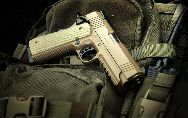 pistol gun weapon handgun military police d wallpaper