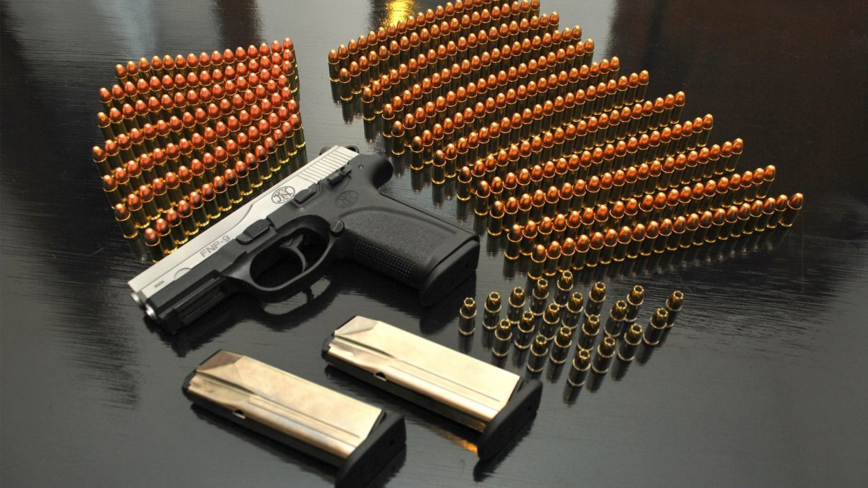 pistol gun weapon handgun military police d wallpaper