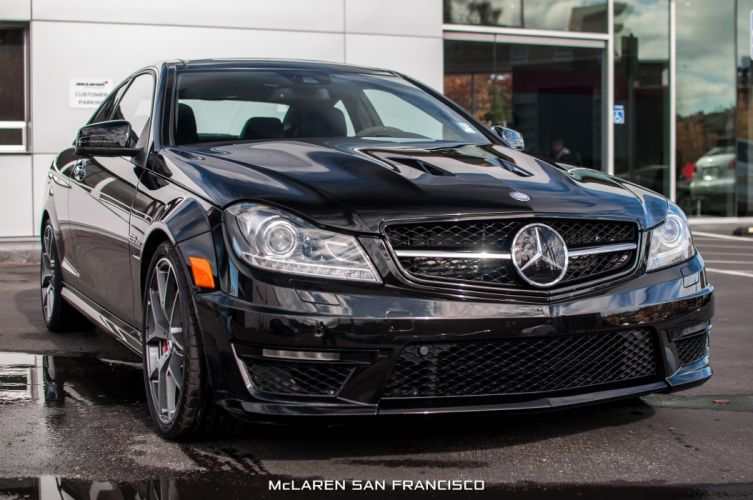 2014 Mercedes Benz C63 AMG Edition 507 cars coupe black wallpaper