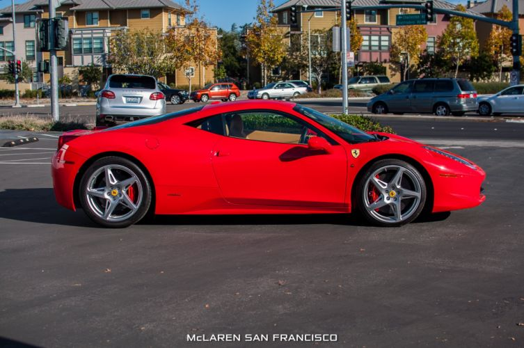 2010 Ferrari 458 Italia coupe cars supercars red wallpaper