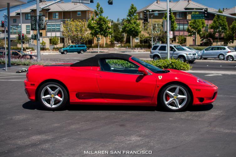 2001 Ferrari 360 Spider convertible cars red wallpaper