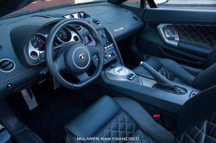 2011 black cars Gallaro Lamborghini spyder supercars wallpaper