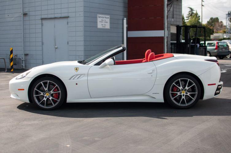 2010 Ferrari California convertible white wallpaper