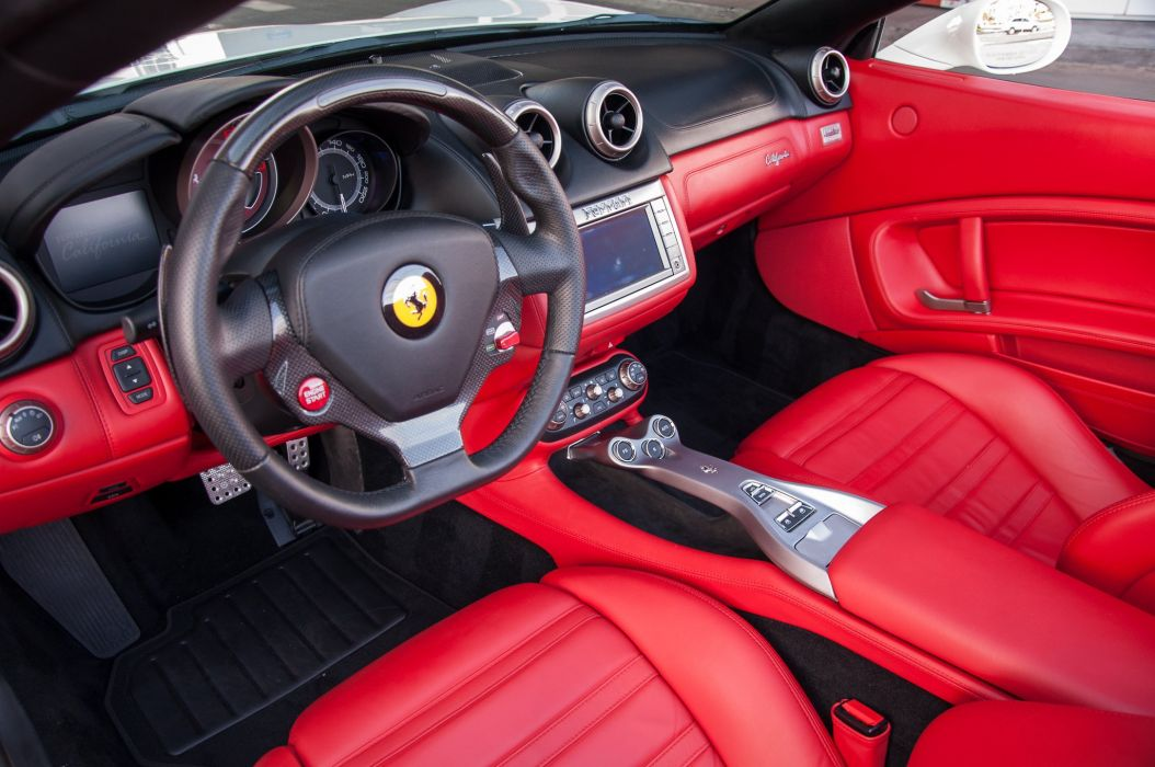 2010 Ferrari California Convertible White Wallpaper 2048x1360