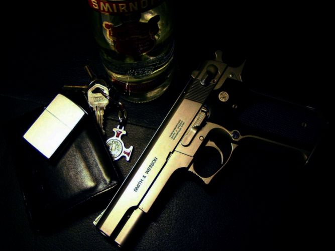 pistol gun weapon handgun military police wallpaper
