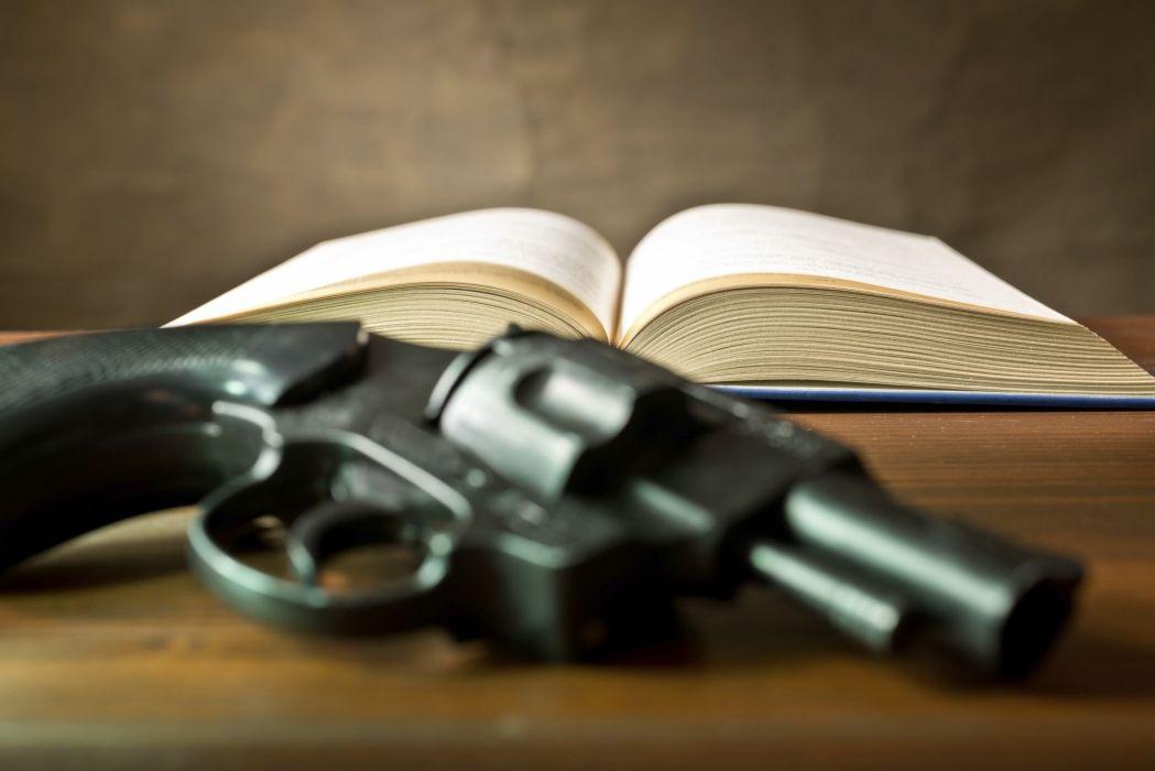 pistol gun weapon handgun military police book wallpaper