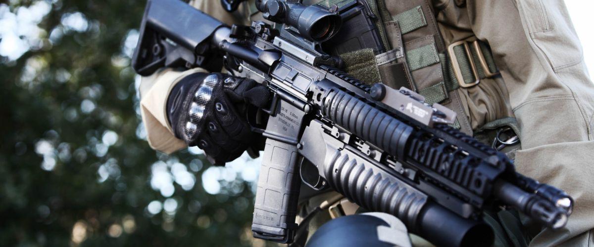 assault rifle military police weapon gun wallpaper