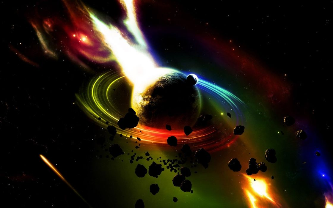 art artwork space universe stars abstract abstraction planet wallpaper