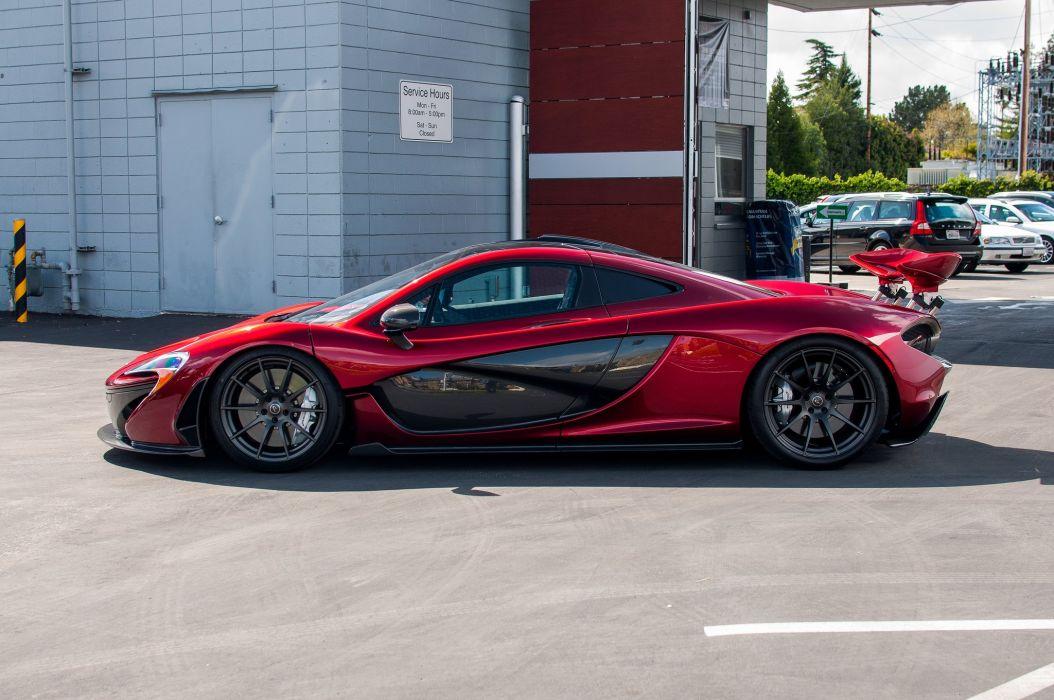 cars McLaren p 1 Supercar supercars Volcano red wallpaper