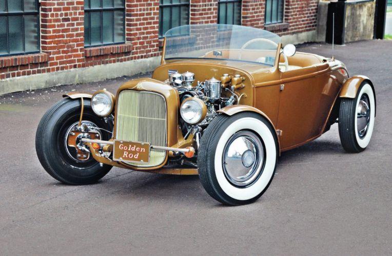 1932 Ford Deuce Roadster Hotrod Hot Rod Custom Kustom Old School USA -03 wallpaper