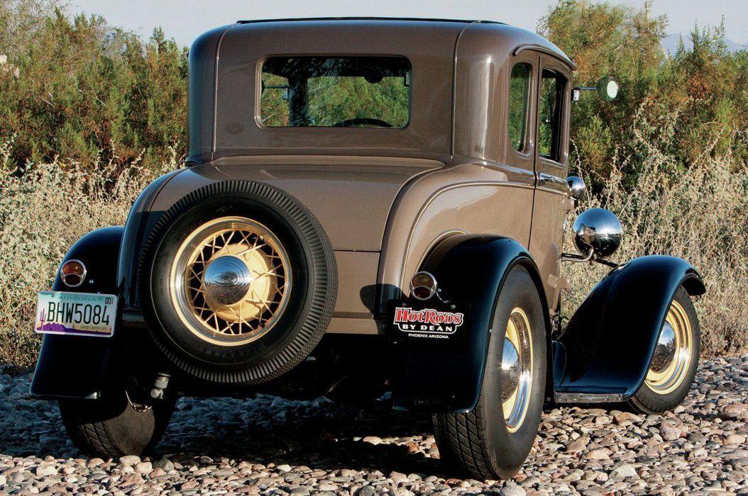 1930 Ford Model-A Coupr hotrod Hot Rod Custom Old School USA 2048x1360-02 wallpaper
