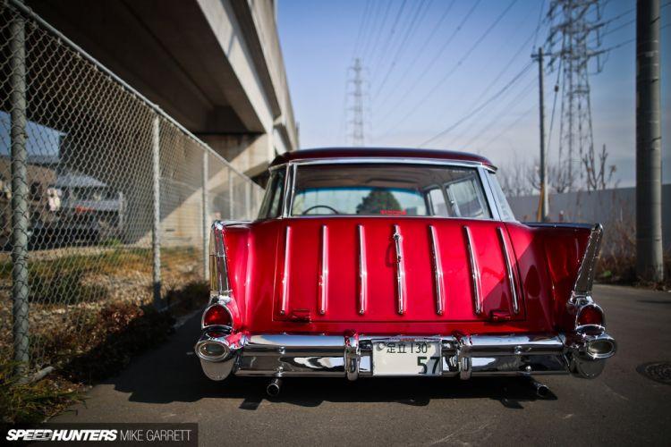 1957 Chevrolet Chevy Bal Air Nomad Wagon Hotrod Hot Rod Custom Kustom Low Lowered USA 1920x1280-06 wallpaper