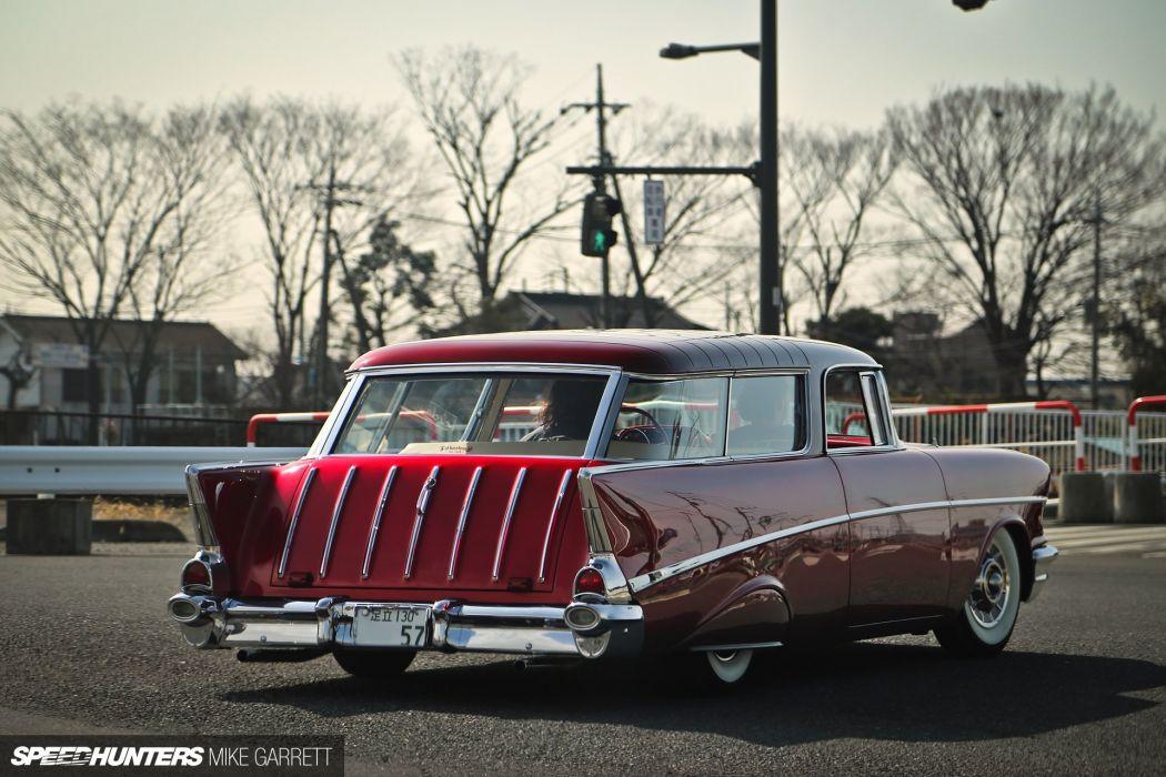 1957 Chevrolet Chevy Bal Air Nomad Wagon Hotrod Hot Rod Custom Kustom Low Lowered USA 1920x1280-08 wallpaper