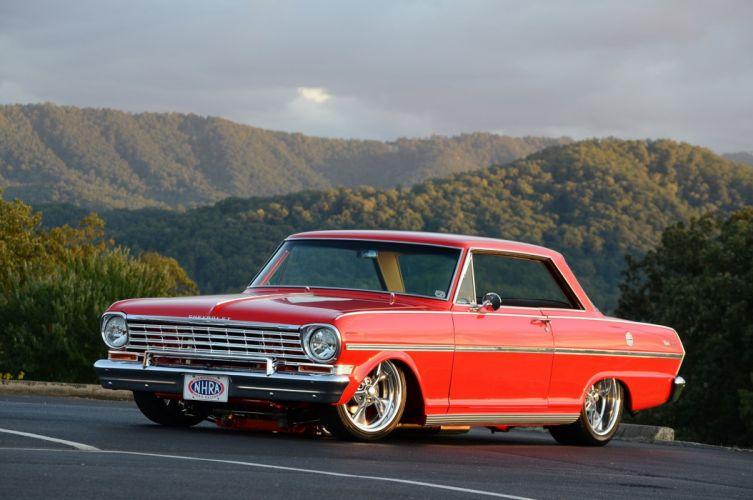 1963 Chevrolet Chevy Nova II SS Streetrod Street Rod Pro Touring Red USA-2048x1360-02 wallpaper