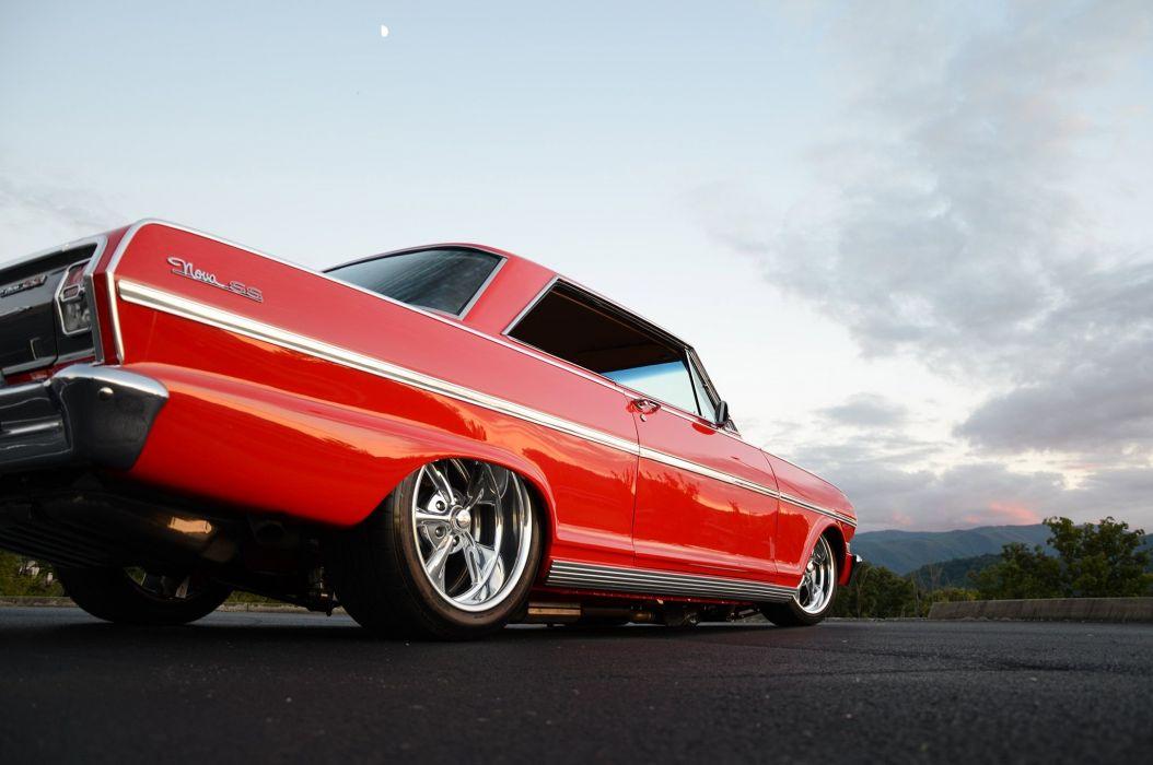 1963 Chevrolet Chevy Nova II SS Streetrod Street Rod Pro Touring Red USA-2048x1360-06 wallpaper