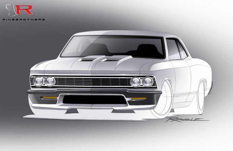 1966-Chevrolet Chevy Chevelle Recoil-Rendering Pro Touring USA 2550x1650-02 wallpaper