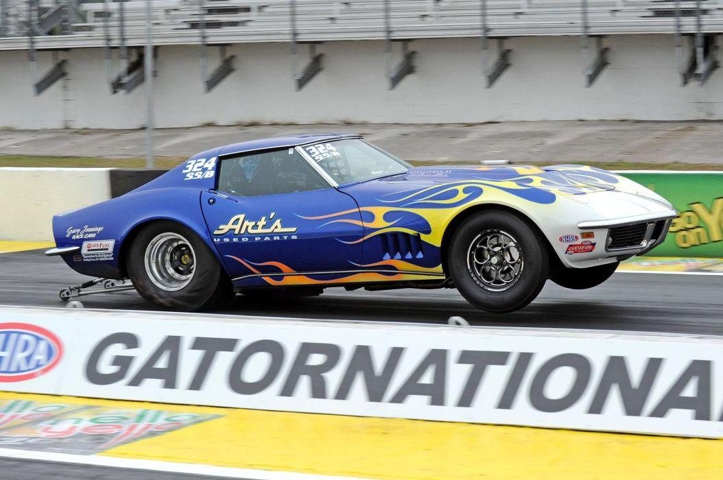 1968 Chevrolet Corvette Drag Dragster Race Racing Wheelie USA 2048x1360-01 wallpaper