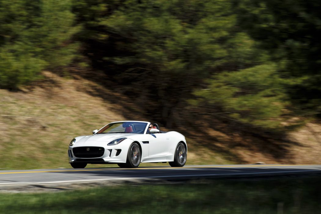 2016 Jaguar F-Type R AWD US-spec convertible white wallpaper