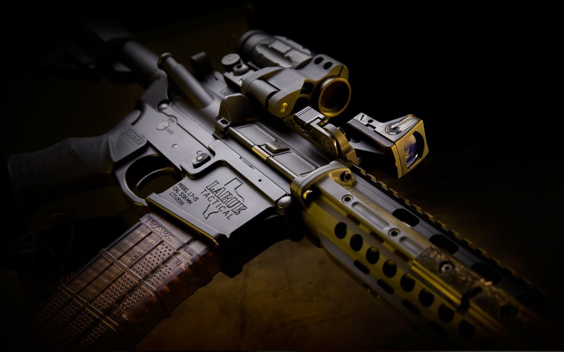 assault rifle weapon gun military police wallpaper