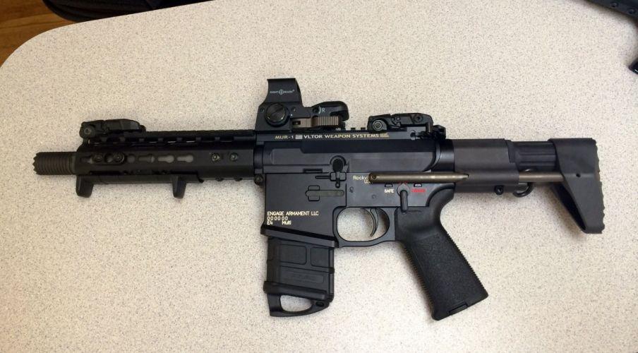 assault rifle weapon gun military police wallpaper