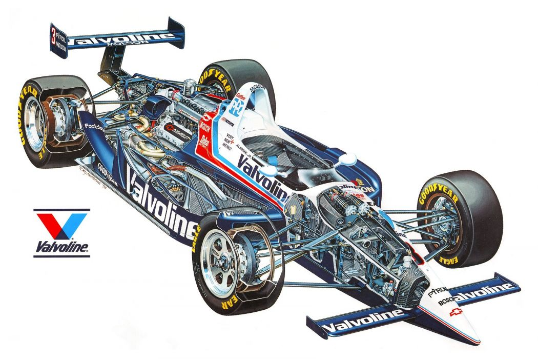 Lola T93-01 Chevrolet Speedway indy 1993 cutaway cars technical cutaway wallpaper