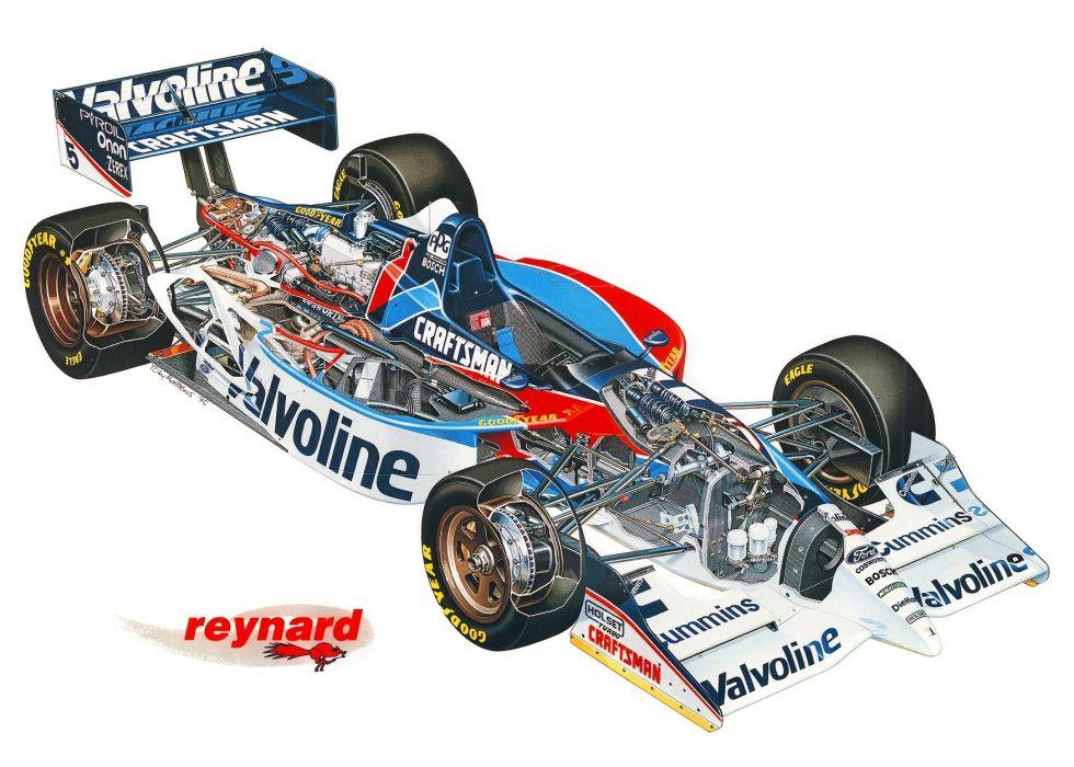 Reynard 951 Cosworth cars indy 1995 cutaway technical wallpaper
